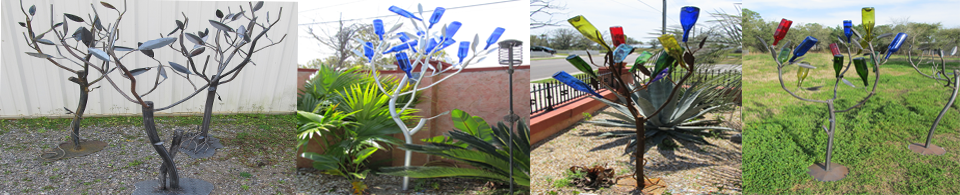 Custom Bottle Trees from Monty Ladner Wrought Iron