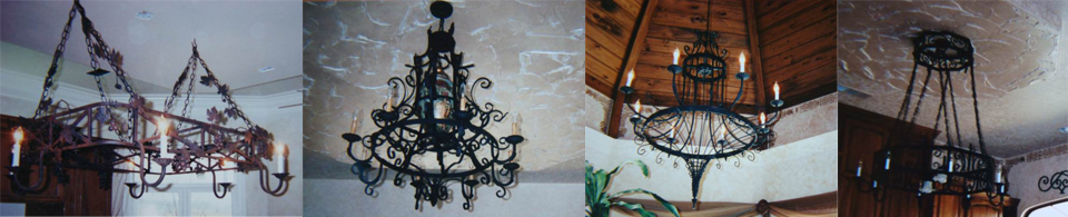 Custom Chadeliers by Monty Ladner Wrought Iron